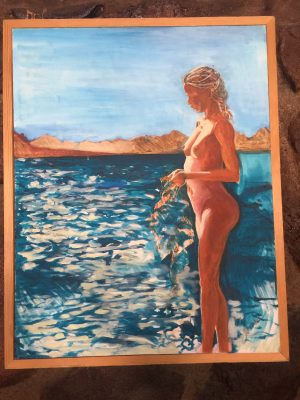 Sunrise on the Sea of Cortez 24X36